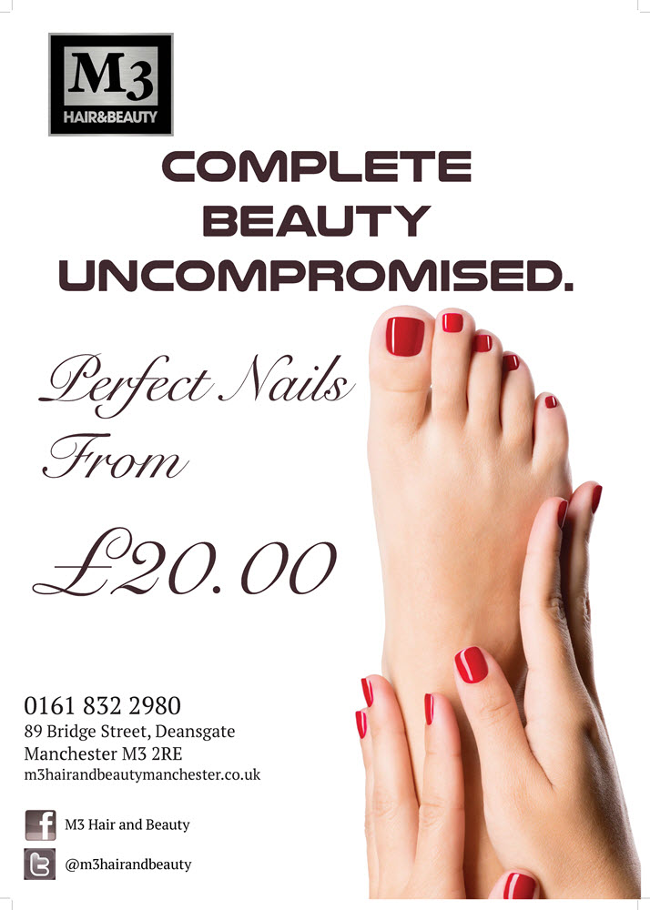 Nail manicure special offer discount, M3 Hair & Beauty, Manchester